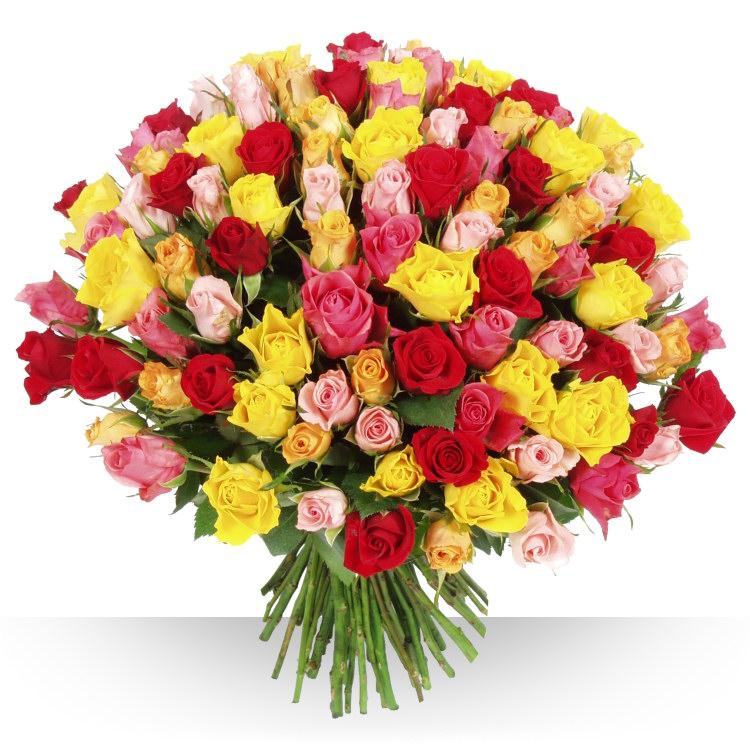 Anniversaire 101 roses varies for Bouquet de fleurs pour 70 ans