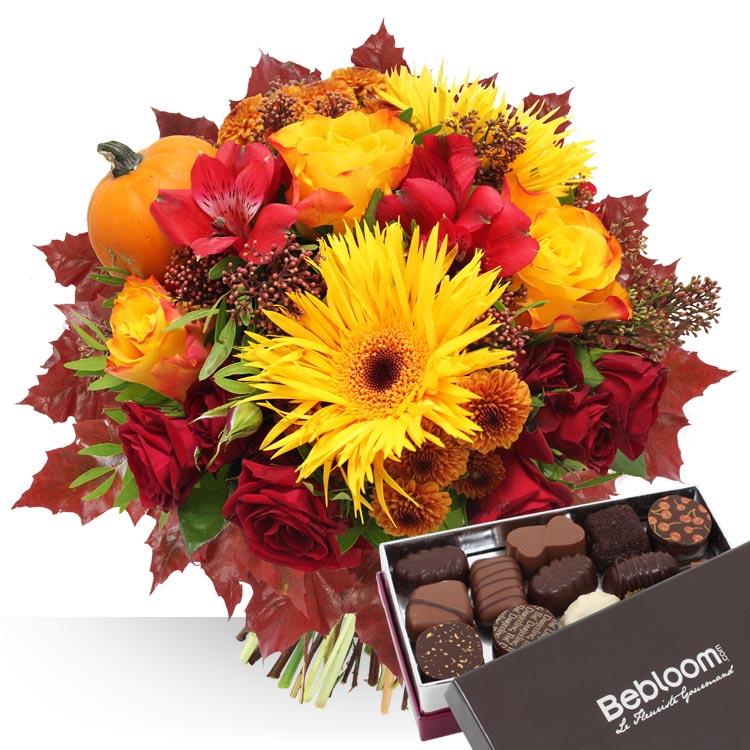 Collection automne automne et chocolats for Fleurs et cadeaux