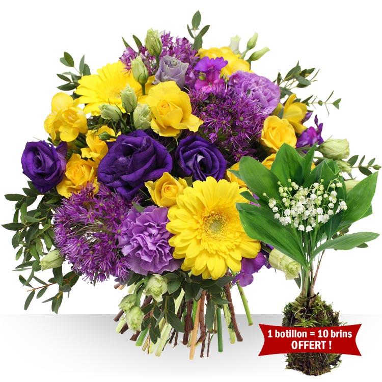 1er mai azur et son muguet offert for Fleurs et cadeaux