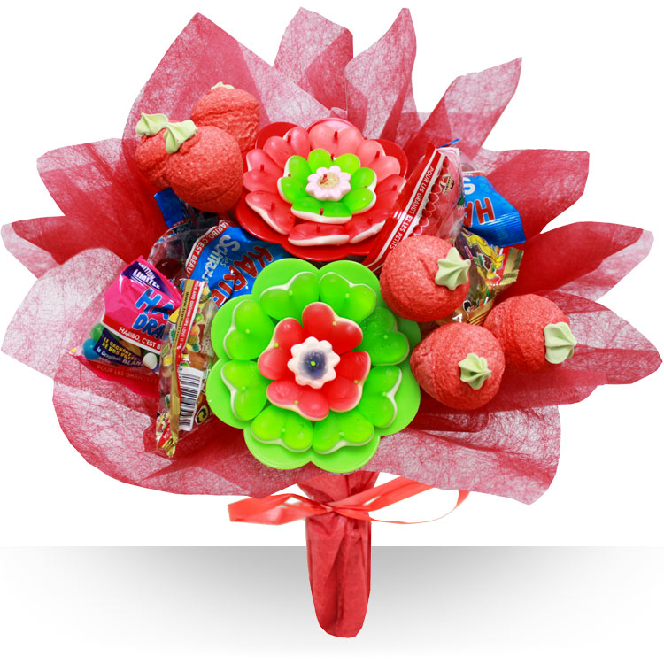 Fleuriste gourmand bouquet de bonbons for Bouquet fleuriste