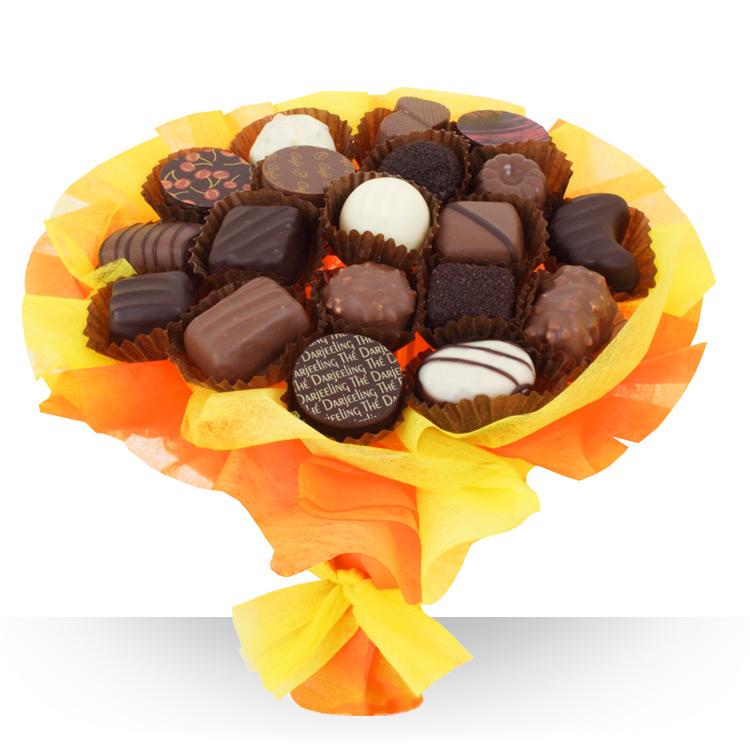Fte des pres bouquet de chocolats for Fleurs et cadeaux