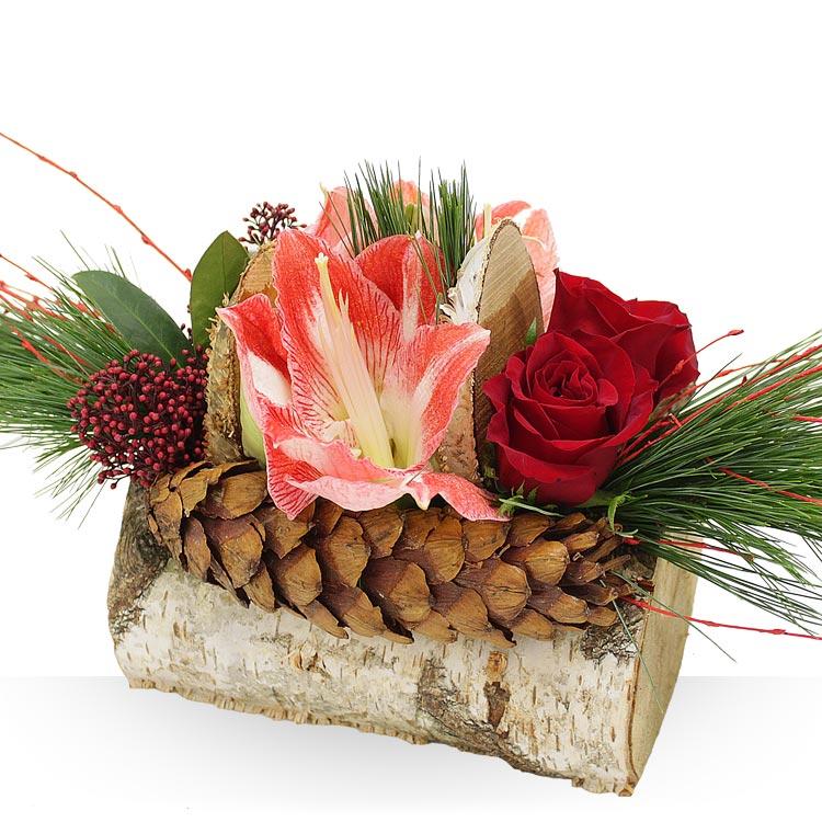 Spcial ftes composition de nol Composition florale exterieur hiver