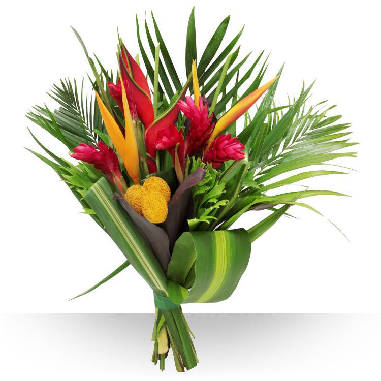 Anniversaire composition exotique for Bouquet exotique