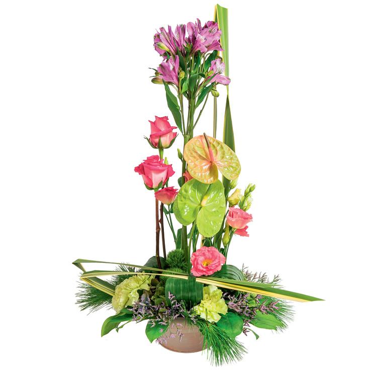 Deuil composition haute for Fleurs et cadeaux