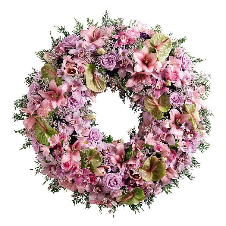 Deuil couronne funraire pastel for Fleurs et cadeaux