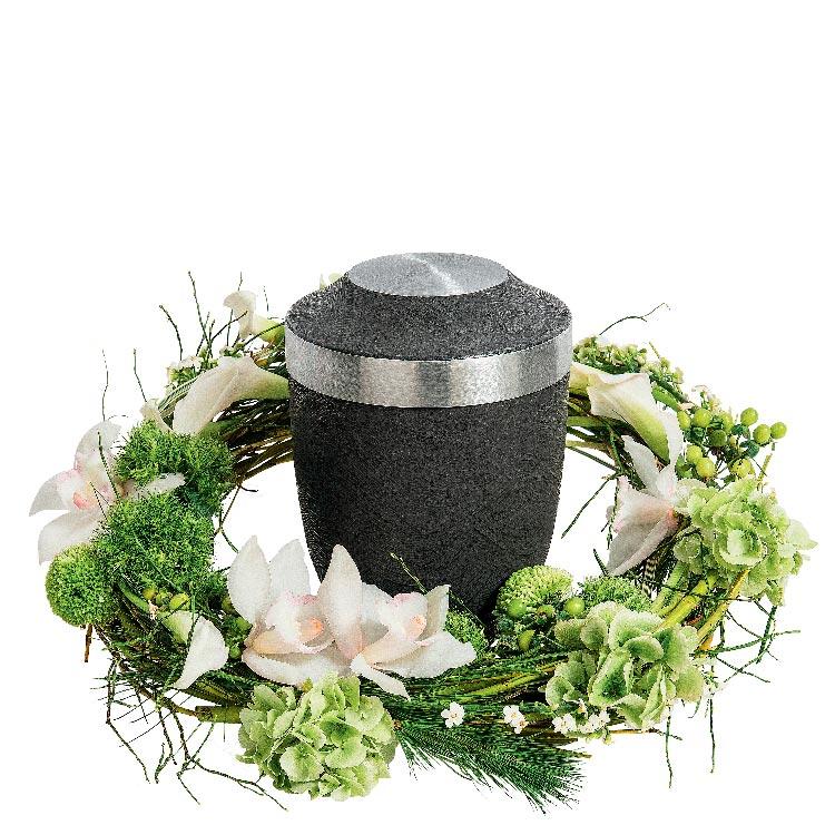 Deuil couronne pour urne for Fleurs et cadeaux