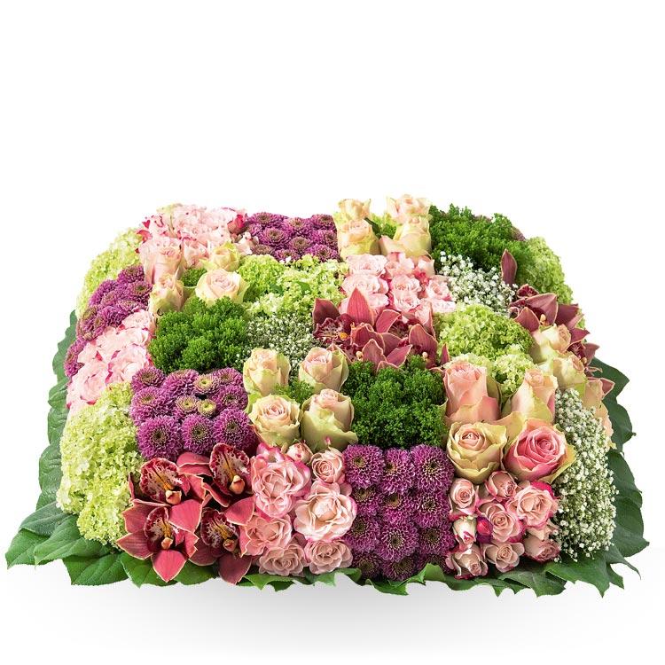 Deuil coussin pastel for Fleurs et cadeaux
