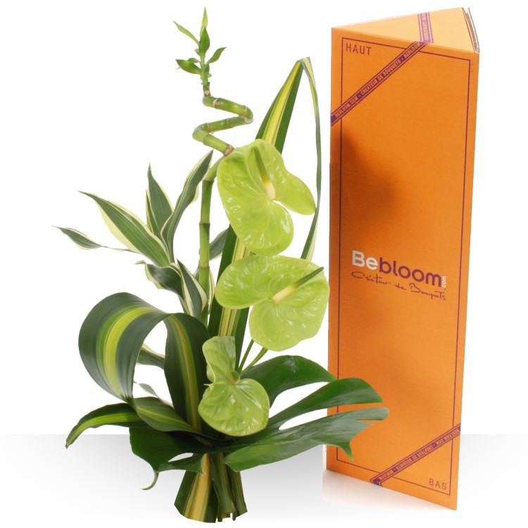 Mini bouquets ddicace vert for Fleurs et cadeaux