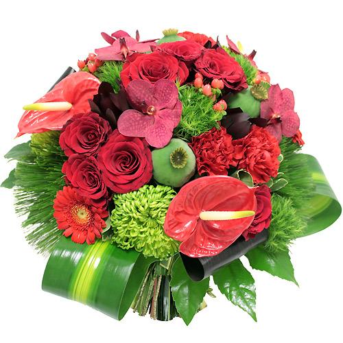 Livraison Bouquet fleurs Cardinal