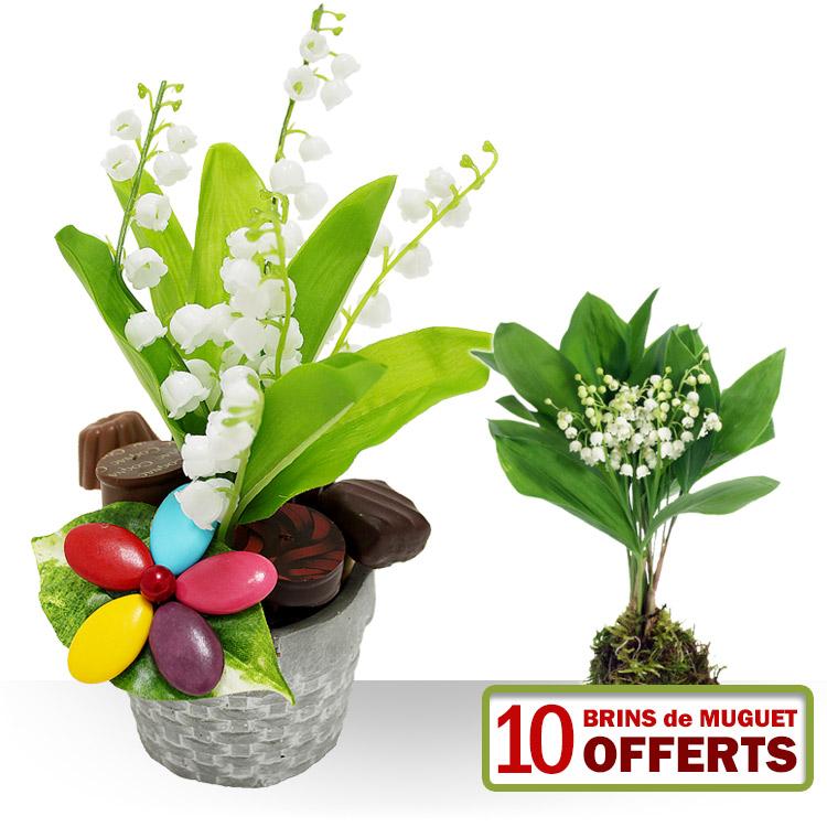 1er mai muguet gourmand for Fleurs et cadeaux