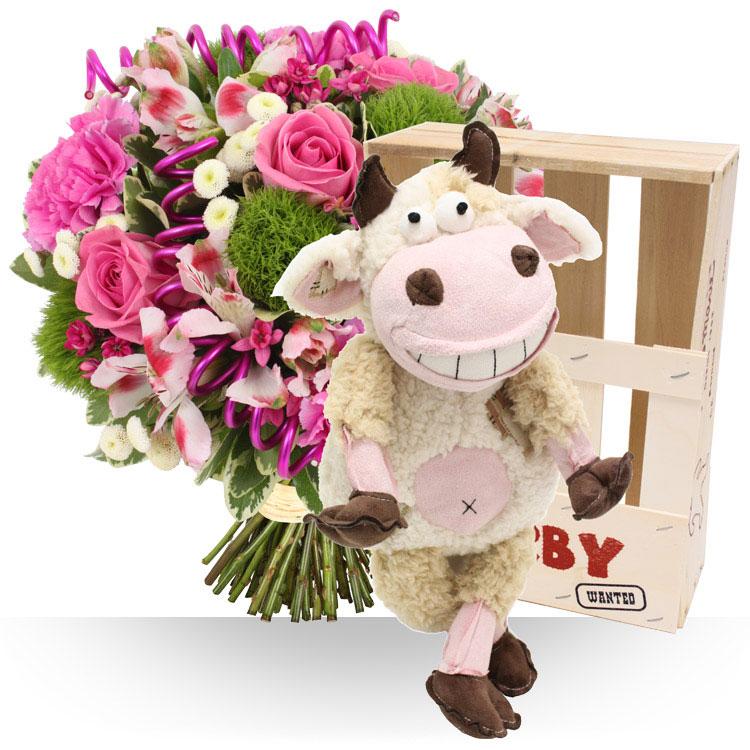 Naissance pack naissance fille for Bouquet de fleurs pour une naissance