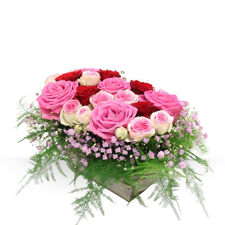 Anniversaire panier de roses for Bouquet de fleurs humour