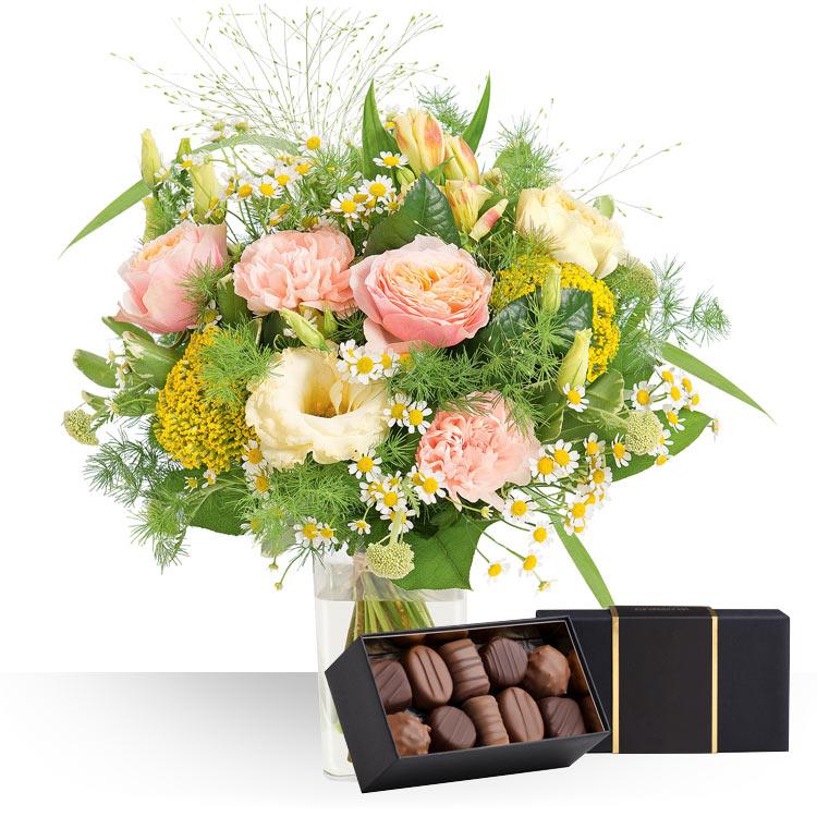 livraison express p che blanche et ses chocolats. Black Bedroom Furniture Sets. Home Design Ideas