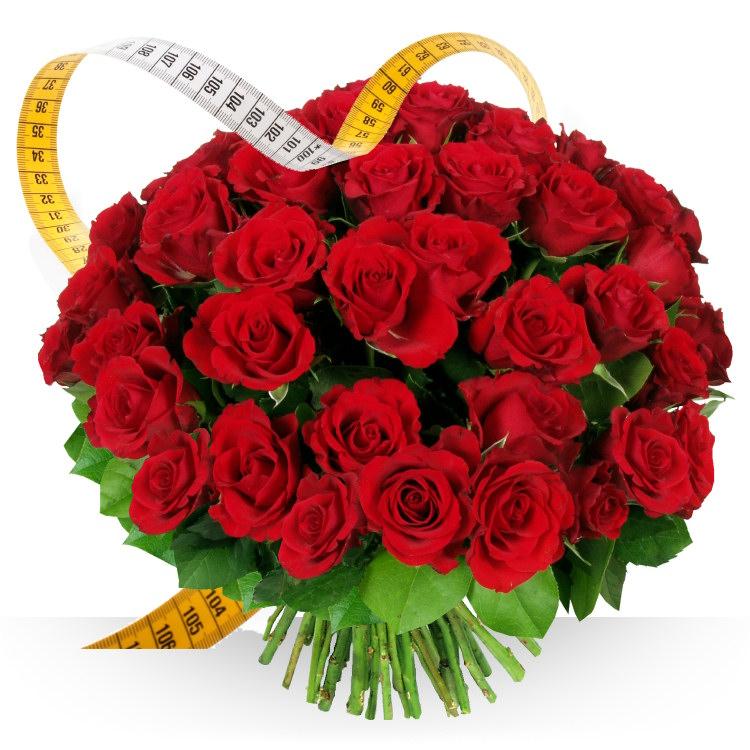 Anniversaire roses rouges sur mesure for Bouquet de fleurs pour 70 ans