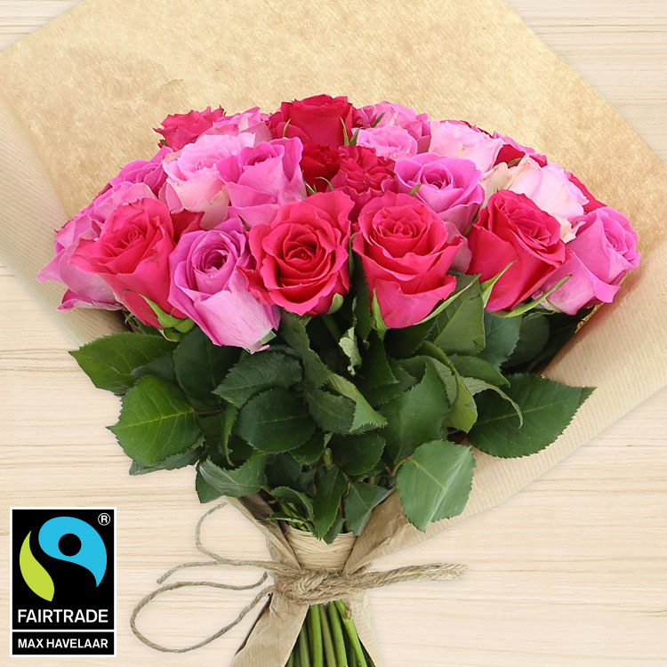 Amour - 40 ROSES EN CAMAÏEU ROSE -