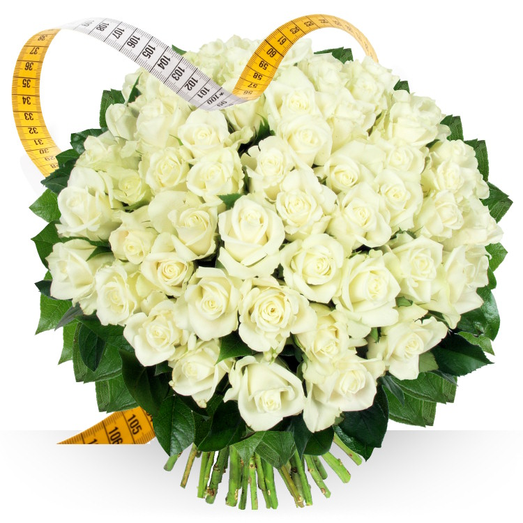 Mariage - ROSES BLANCHES SUR MESURE -