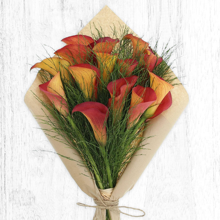 Anniversaire - BOUQUET DE CALLAS ORANGE XL -