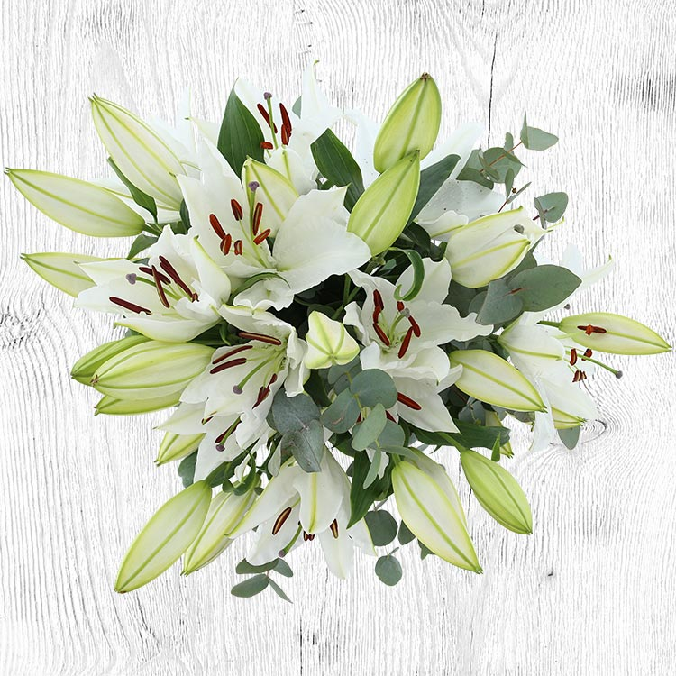 Collection Automne - BOUQUET DE LYS BLANCS XL -