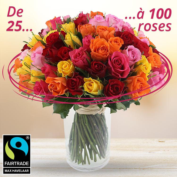 Anniversaire - BOUQUET DE ROSES SUR-MESURE -
