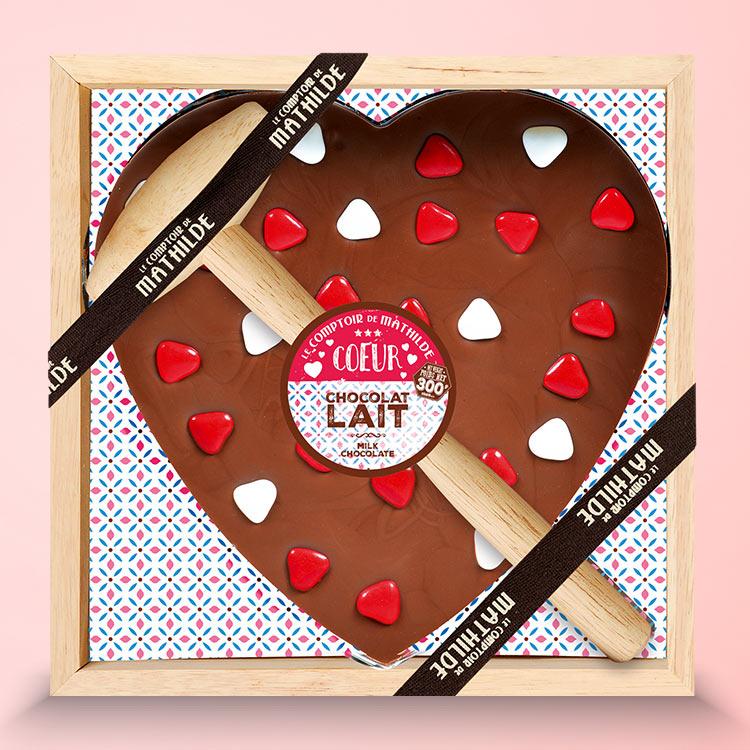 <b>Saint Valentin</b> - CŒUR GÉANT AU CHOCOLAT -