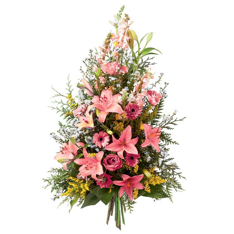 Deuil - GERBE ROSE -