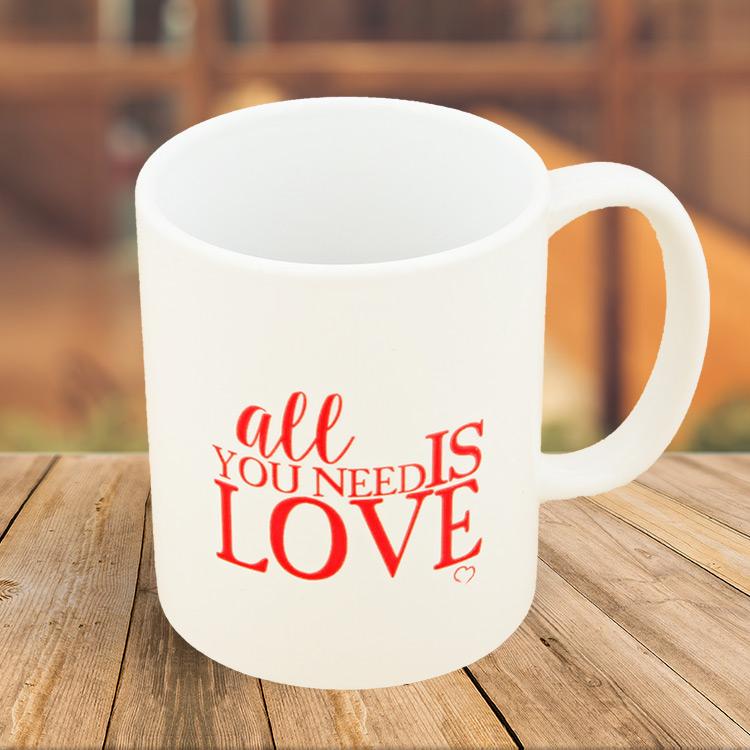 Objets cadeaux - MUG ALL YOU NEED IS LOVE -