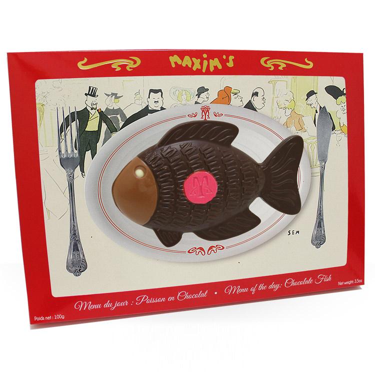 <b>Joyeuses Pâques</b> - POISSON EN CHOCOLAT MAXIM'S -