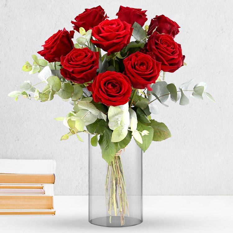 <b>Saint Valentin</b> - RED PASSION ET SON VASE -