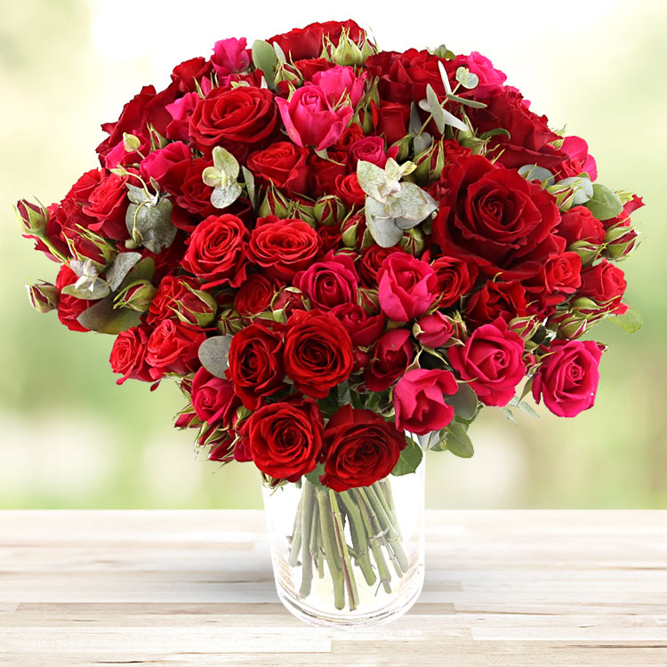 Amour - RED SYMPHONIE XXL ET SON VASE -