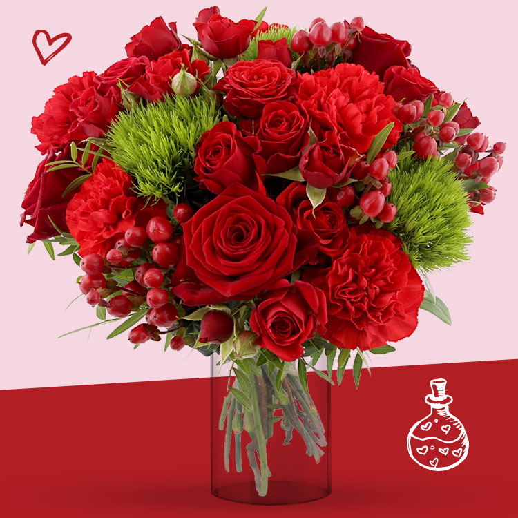 <b>Saint Valentin</b> - SWEET VALENTINE XL ET SON VASE -