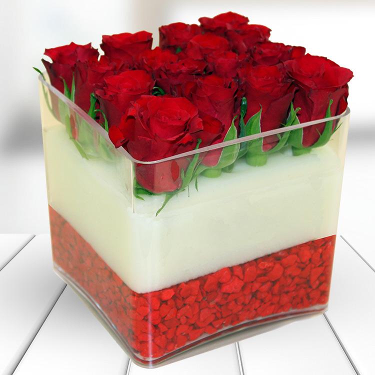 Bouquets Découverte - THE CUBE ROUGE -