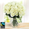 Amour - 40 ROSES BLANCHES ET SON VASE -