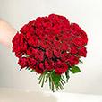 <b>Saint Valentin</b> - 50 ROSES ROUGES -