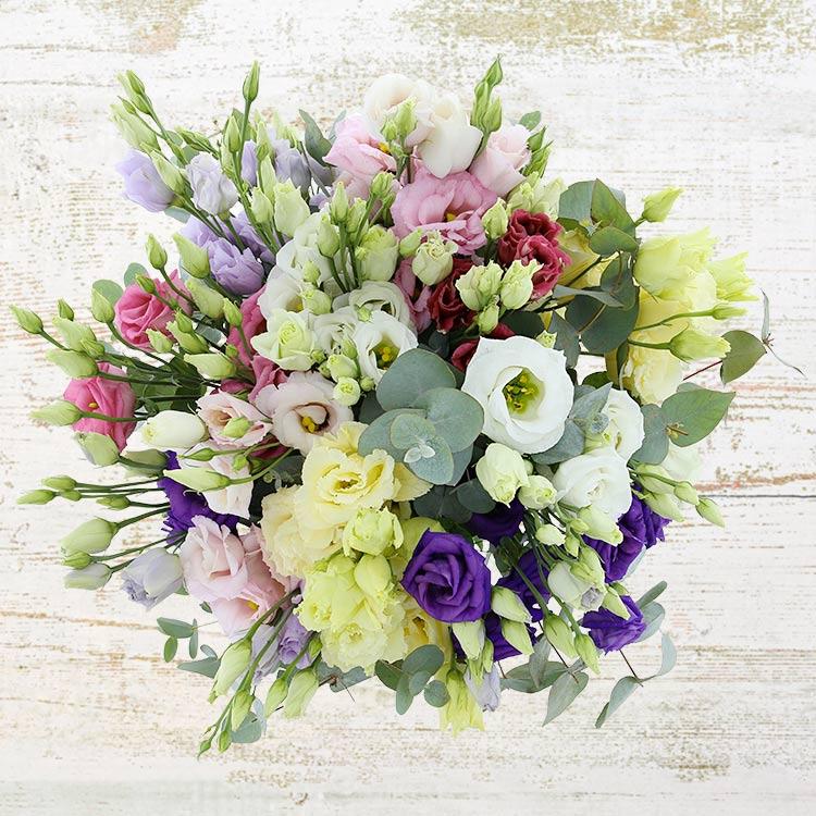 Bouquet de lisianthus pastel
