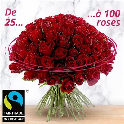 Bouquet de roses rouges sur-mesure