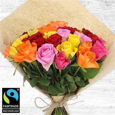 40 roses multicolores