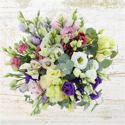 Bouquet de lisianthus pastel XL