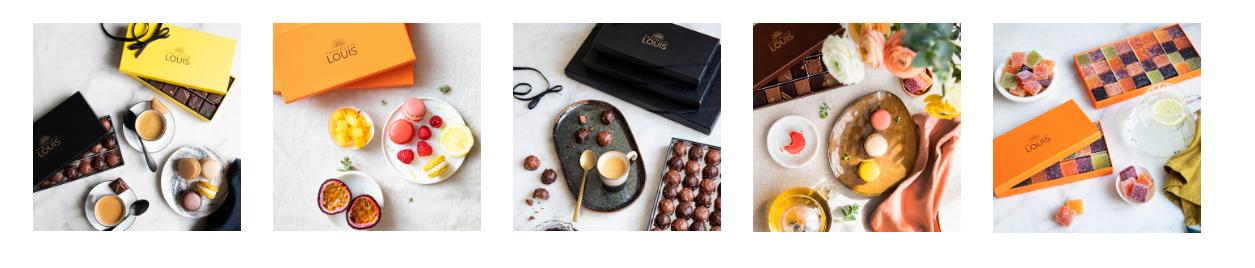 Coffrets de chocolats Louis