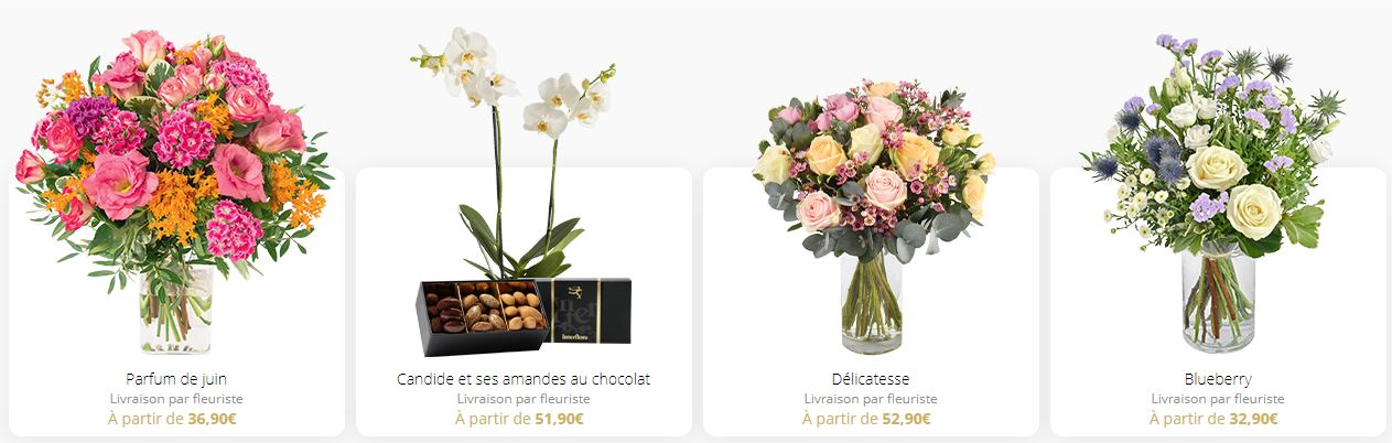 Offrir des fleurs avec Interflora