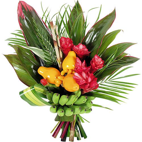 Anniversaire banana - Le bouquet de fleurs ...