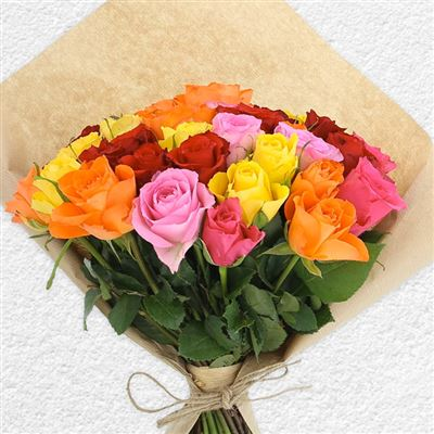 40 roses multicolores - bebloom