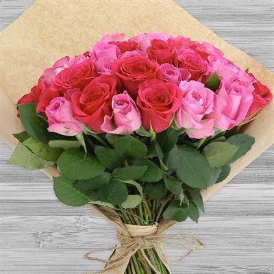 50 roses en camaïeu rose - bebloom