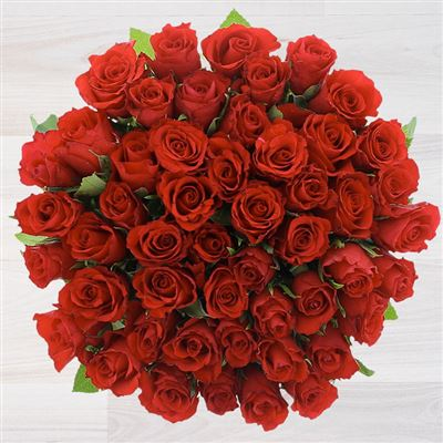 50 roses rouges - bebloom