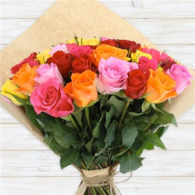 60 roses multicolores - bebloom