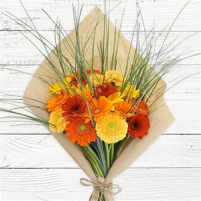 Bouquet de germinis tons chauds - bebloom