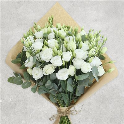 Bouquet de lisianthus blancs XXL - bebloom
