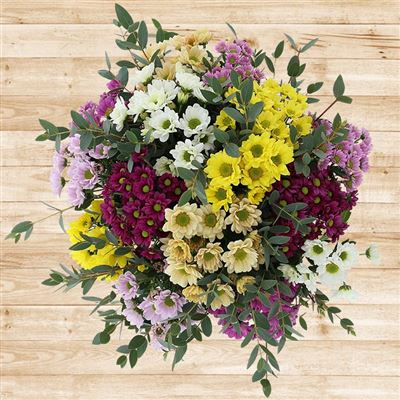 Bouquet de santinis multicolores - bebloom