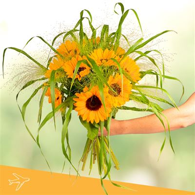Bouquet de tournesols - bebloom