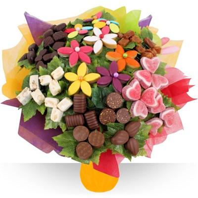 Le fleuriste gourmand cration de bouquet chocolat et for Bouquet pas cher livraison gratuite