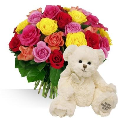 Fete des papas ides de cadeau naissance autres for Bouquet de fleurs pour une naissance